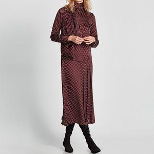 Zara Polka Dot Blouse / Skirt Set